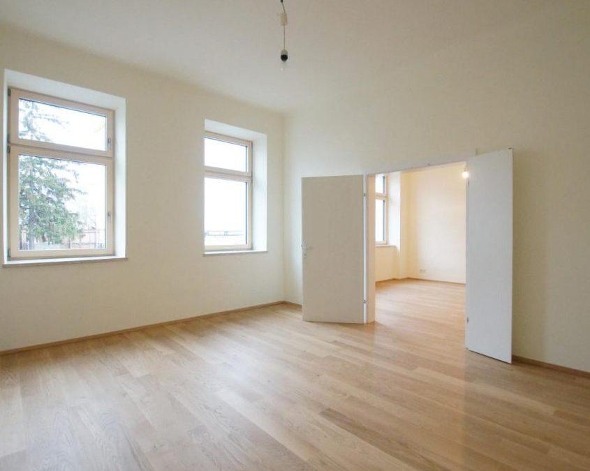 4 Zimmer Altbauwohnung, Erstbezug, UNBEFRISTET, Veranda, GARTEN – Steinhoff Immobilien